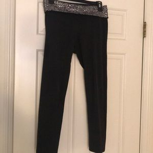 Aerie sequin band slim gym yoga pant